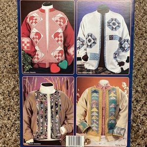 House of White Birches Office - Quick Cardigans for Quilters VTG patterns #141053
